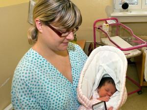 Prvním miminkem v roce 2013 je holčička Justýna