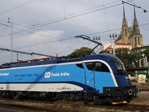 ČD v Brně ukázaly novou rychlou lokomotivu Taurus