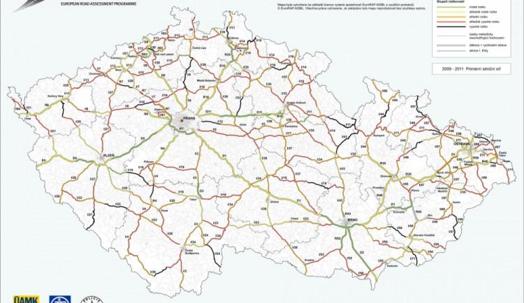 Silnice na jižní Moravě patří k bezpečnějším