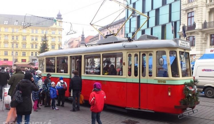Brnem projížděla Betlémská tramvaj