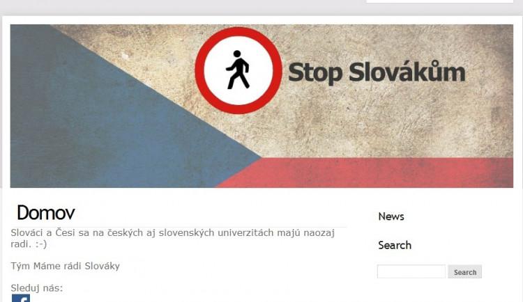 Stopslovakum.cz? Autor webu chtěl jen vyvolat diskuzi