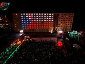 Světelná show ohromila diváky u kolejí VUT