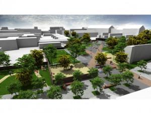 Zdevastovaný blok se změní v centrum a park pro sociálně slabé