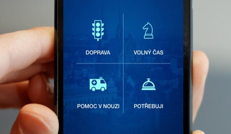 Aplikace Modré Brno poradí, kde najít nejbližší poštu nebo stojan na kolo