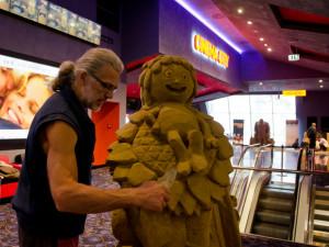 Jedinečná výstava filmových hrdinů z písku