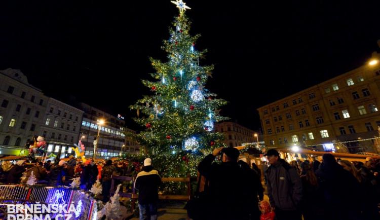 Rozsvícení jedle odstartovalo Brněnské Vánoce