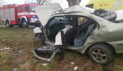 Spolujezdec nepřežil dopravní nehodu na Kyjovsku