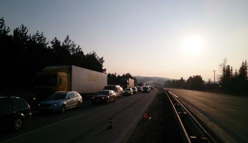 Dvě nehody na dálnici D1 zkomplikovaly dopravu