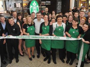 Starbucks otevírá kavárnu v Galerii Vaňkovka