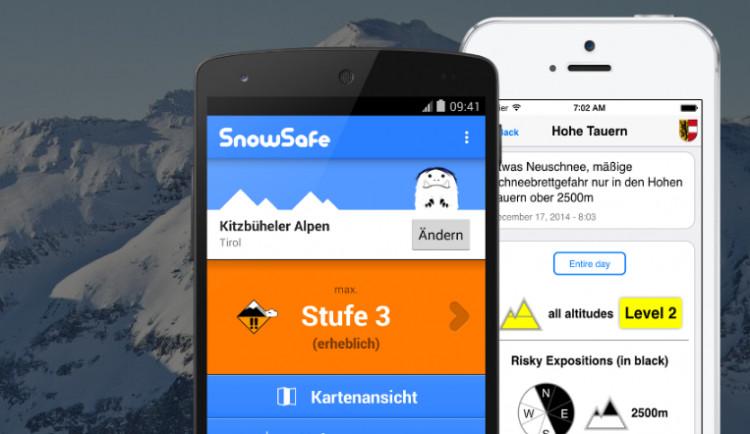 Horská služba přichází s lavinovou aplikací, obsahuje informace o lavinovém nebezpečí