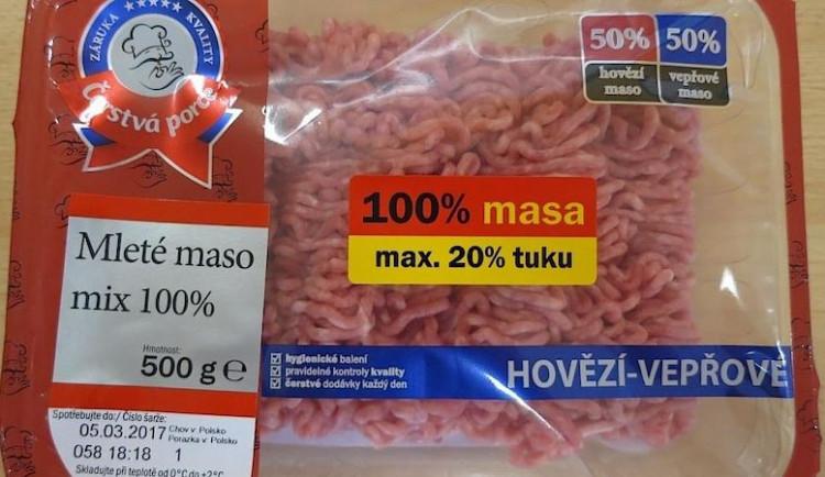 Inspekce našla v mletém mase z Polska bakterie salmonely
