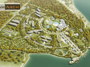 Nový projekt termálních lázní v Pasohlávkách počítá s hotelem, nákupní zónou a čtyřicítkou nových domů