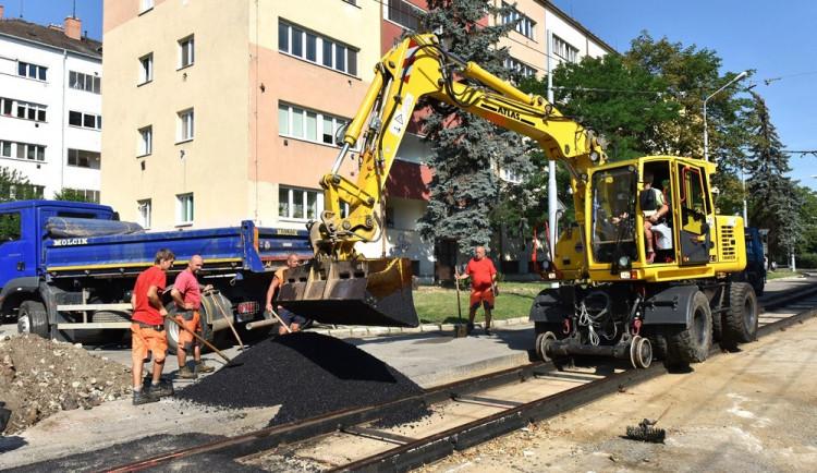V úterý začne oprava kolejí ve Vranovské ulici v Brně. Práce omezí provoz šalin i aut
