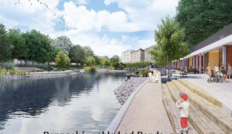 Revitalizace nábřeží Svratky by mohla v Brně začít už za dva roky. Nábřeží se otevře lidem