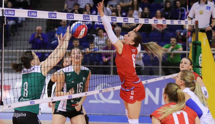 Domácí prostředí brněnským volejbalistkám nepomohlo. V semifinále prohrály i druhý zápas