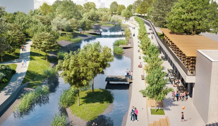 FOTO: Návrh nového nábřeží Svratky je hotový. Do čtyř let vznikne u řeky nádherná promenáda