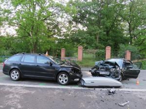 Za páteční smrtelnou nehodu u Strážnice mohla příliš vysoká rychlost na mokré silnici