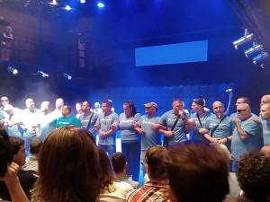 Radnice brněnského středu rozdala pokuty bleděmodrým aktivistům za přerušení divadla