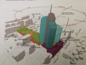 Ve vnitrobloku na Lidické má vyrůst mrakodrap se 180 byty. Zelení ho chtějí zakázat