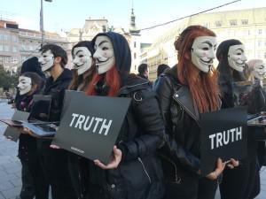 Na Svoboďáku demonstrovali aktivisté za práva zvířat