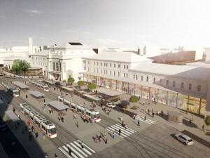 FOTO: Hlavní nádraží před sto lety? Daleko více zeleně. Současný projekt developera přitom se stromy počítá
