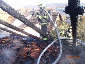 FOTO: Na Brněnsku v sobotu hořel rodinný dům