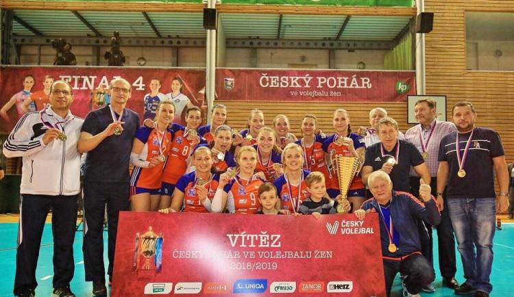 Finále Českého poháru v Brně ovládly olomoucké volejbalistky