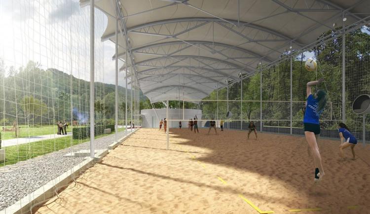VIZUALIZACE: Na Rivéře vyrostou nové kryté kurty na plážový volejbal