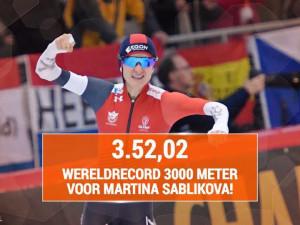 Neskutečné! Martina Sáblíková překonala svůj týden starý světový rekord a ovládla Světový pohár