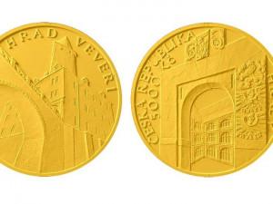 Pětitisícový hrad Veveří: Česká národní banka vydala další sběratelskou minci