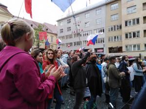 FOTO/VIDEO: V Brně se znova sešli demonstranti za nezávislou justici.