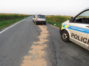 FOTO: Řidič Fiatu Multipla zavinil nehodu s těžkým zraněním a utekl, pátrají po něm policisté
