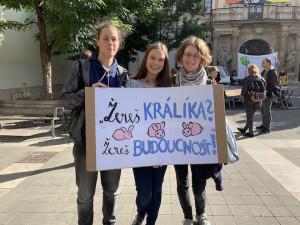 Uhlí patří pod zem, křičeli stávkující za klima na Moraváku