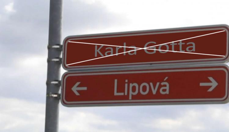 Ulice Karla Gotta v Ivančicích nakonec nebude