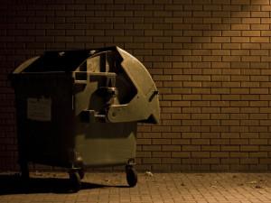 Muž se nemohl přes auto dostat ke kontejneru, odpadky vysypal na kapotu