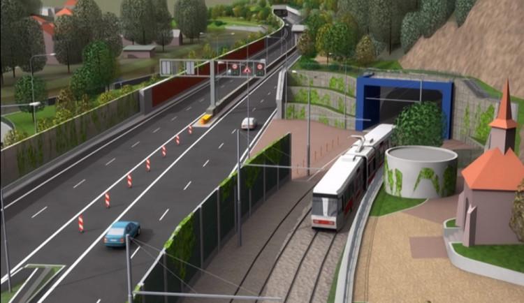 Práce na Žabovřeské vstoupí do další fáze. Příští rok začnou stavět tramvajový tunel
