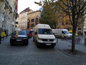 Brňany obtěžují zásobovací vozy v centru. U spousty je sporné, jestli vůbec zásobují