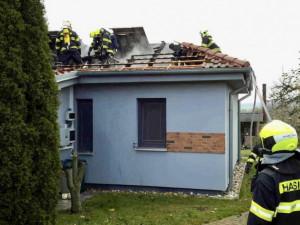 Ve Znojmě hořel rodinný dům, škoda přesáhla milion korun