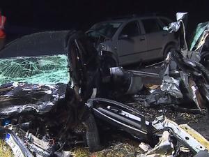 Černé pondělí na jihomoravských silnicích. Dvě večerní nehody znamenaly pět mrtvých cestujících