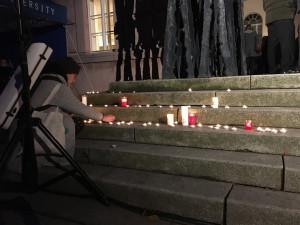 Pietní shromáždění na Kounicových kolejích připomnělo oběti nacismu