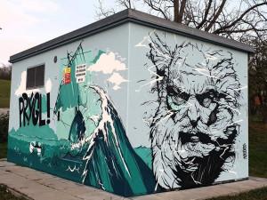 Malíři se vrhli na trafostanice od E.ONu. Nudné kostky teď zdobí překrásné muraly