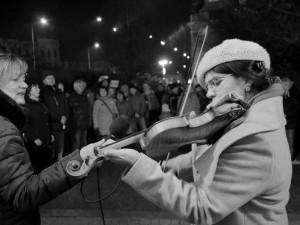OBRAZEM: Nejsme Agrofert, znělo Vyškovem. Demonstranti vyzvali Babiše k demisi