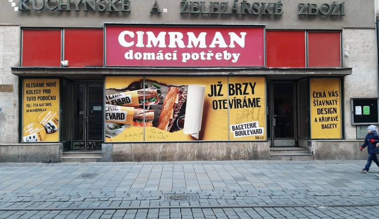 Místo hmoždinek bagety. Legendární domácí potřeby Cimrman v centru Brna nahradí bageterie
