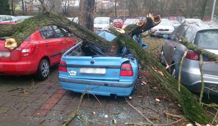 Silný vítr dává hasičům na jižní Moravě pořádně zabrat. Tisíce domácností jsou bez elektřiny
