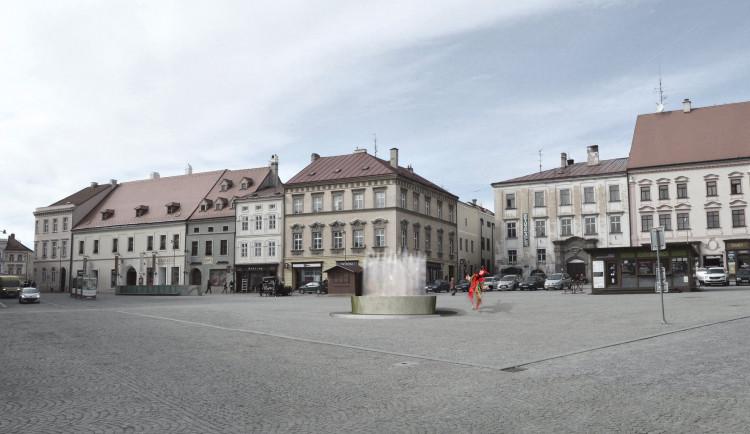 FOTO: Znojmo vybuduje na náměstí moderní kašnu. Opozice a část veřejnosti protestují
