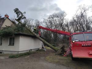 Jihomoravští hasiči řešili za poslední dva dny téměř tři stovky případů spojených se silným větrem