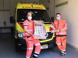 Díky za vaši práci! Lidé posílají jihomoravským záchranářům dárky a morální podporu