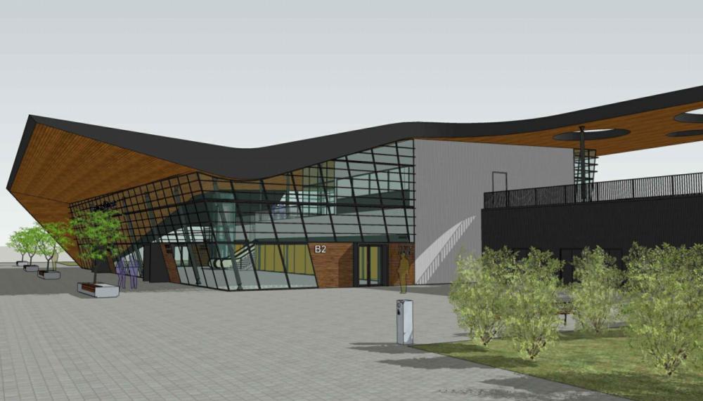 Vizualizace nádraží v brněnské městské části Královo Pole. Zdroj: Správa železnic