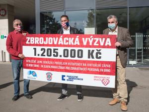 Zbrojovka vybrala pro brněnské zdravotníky přes milion korun