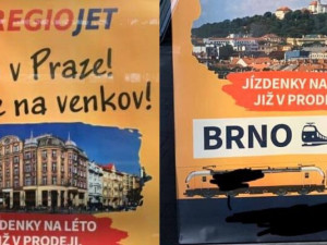 Co v Praze! Jeďte na venkov! Dopravce nabízí jízdenky do Brna kontroverzní kampaní